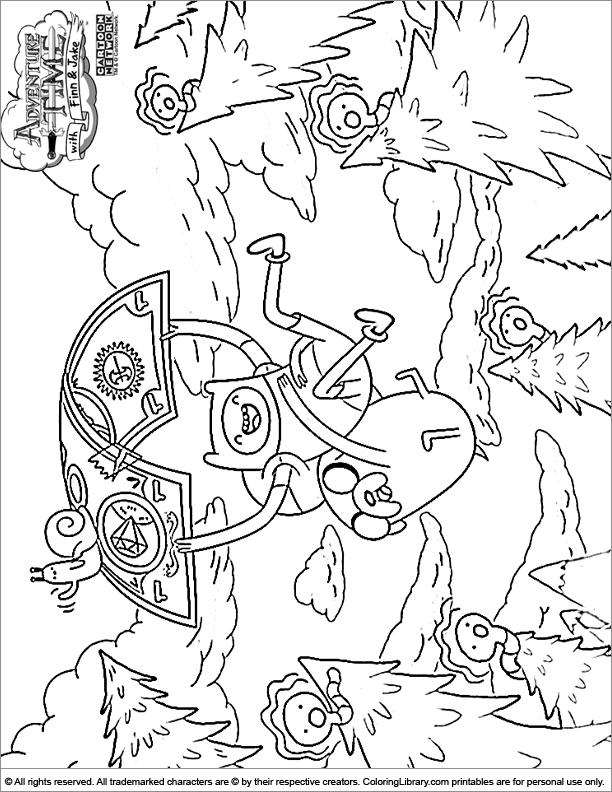coloring pages of adventure time - photo#8