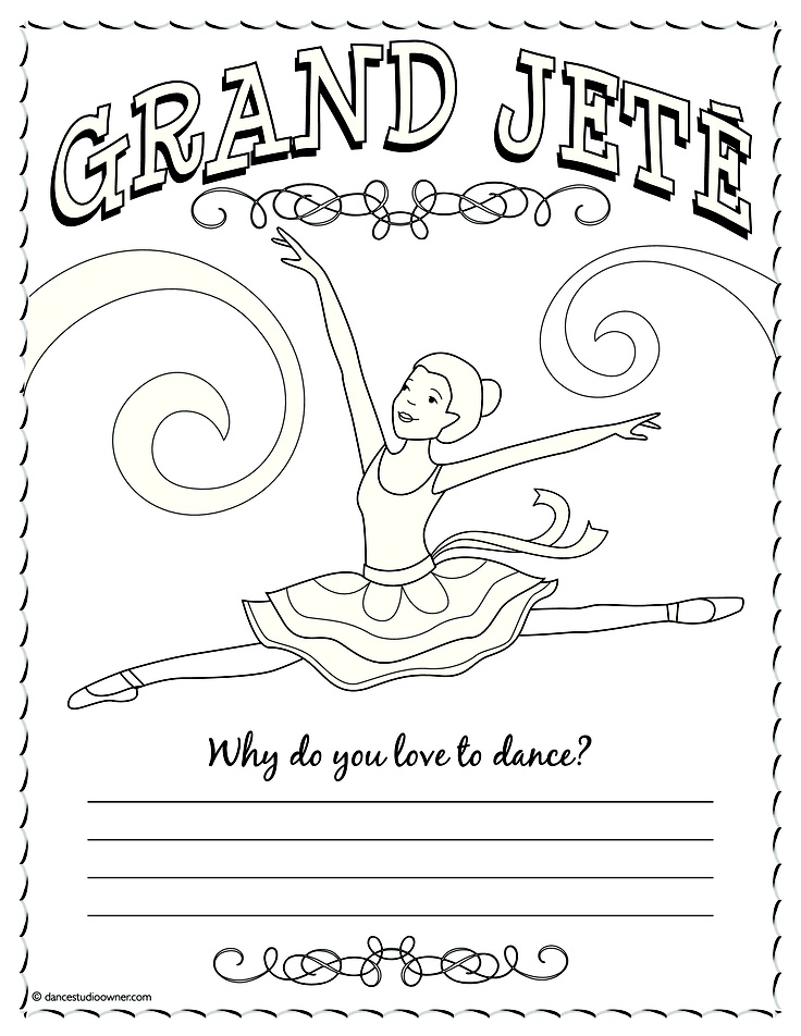 coloring pages ballet positions - photo#16