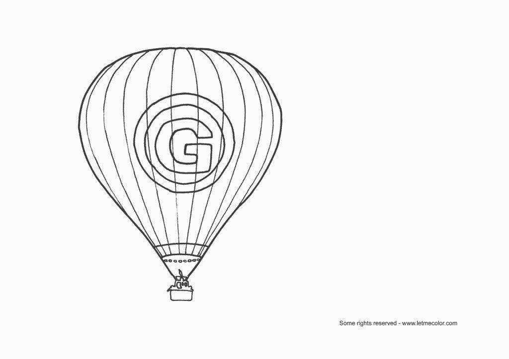 Printable Hot Air Balloon Coloring Page Letmecolor