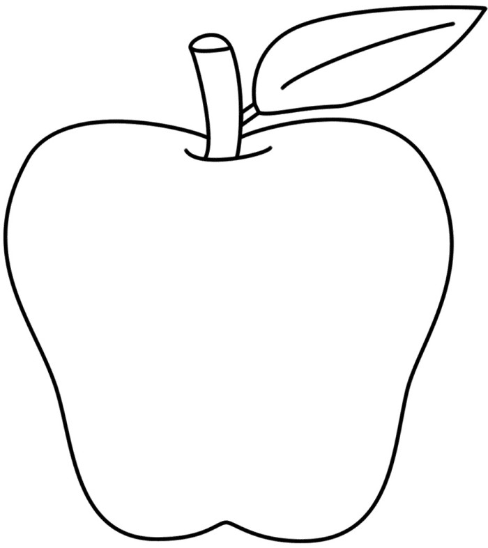 Coloring Page Apples Az Coloring Pages Coloring Page Of An Apple