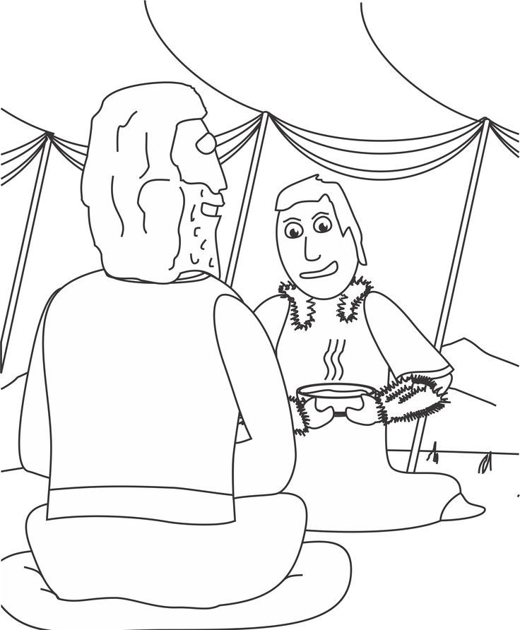 Jacob And Esau Coloring Page Coloring Home