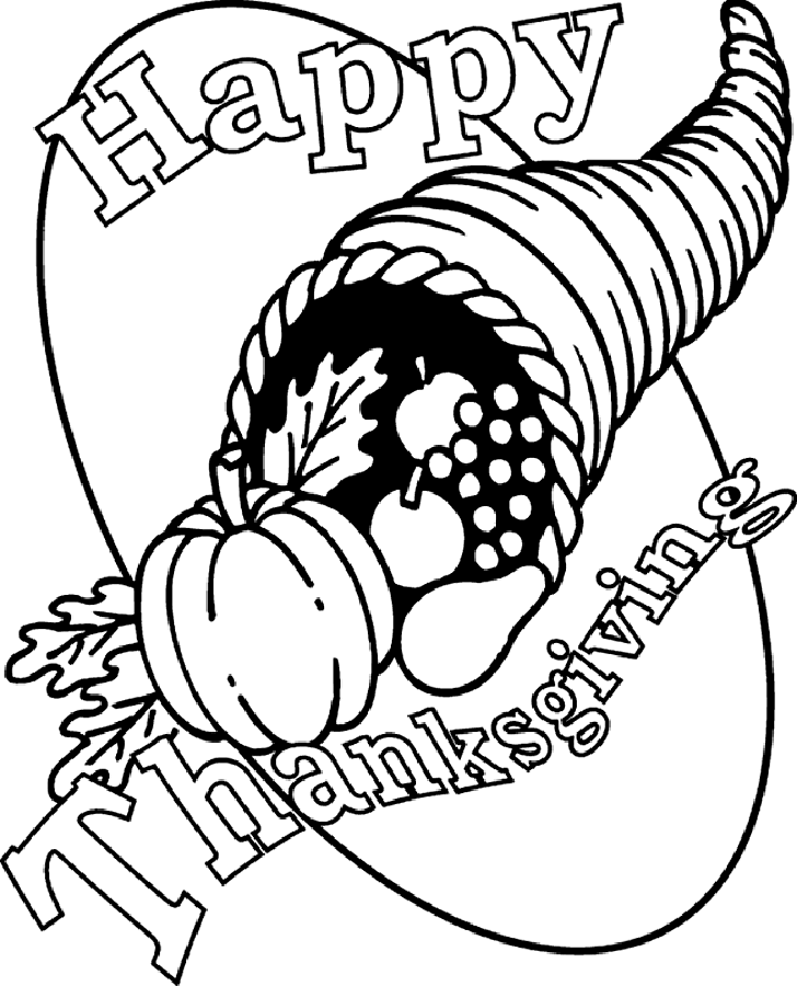 Happy Thanksgiving Coloring Pages - Free Printable Coloring Pages