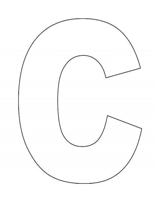 Letter c coloring sheet for preschoolers az coloring pages for Letter c coloring pages for preschoolers