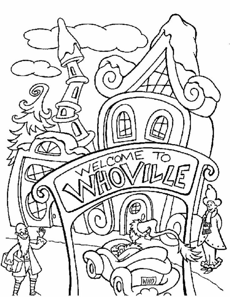 The Grinch Coloring Pages - Coloring Home