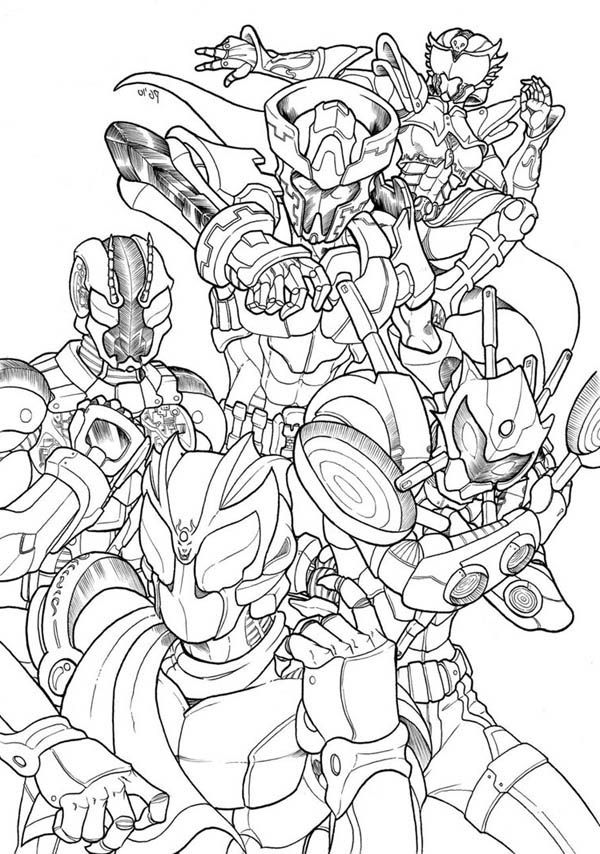 kamen rider coloring pages - photo#14