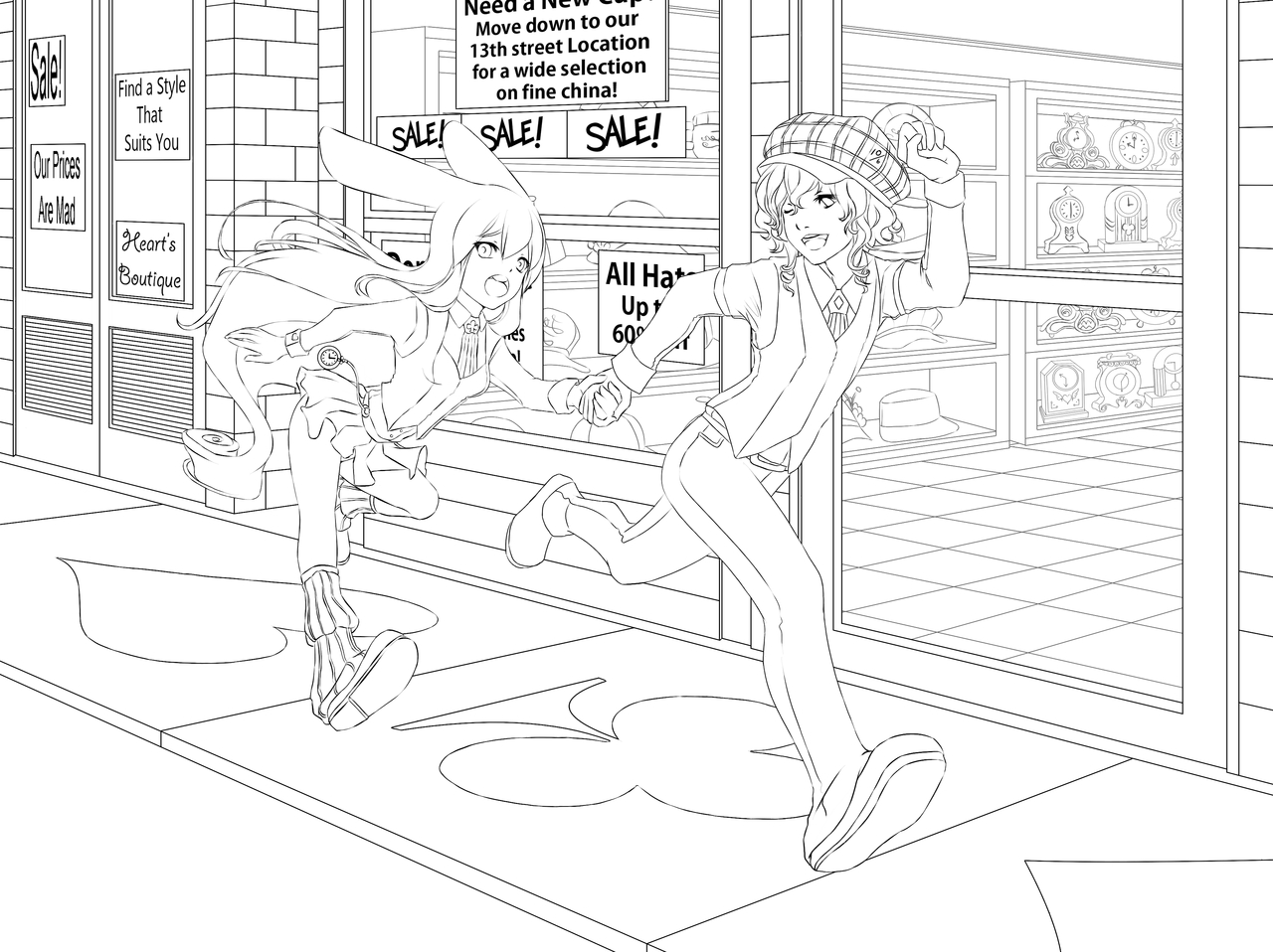 anime coloring pages deviantart art - photo#47