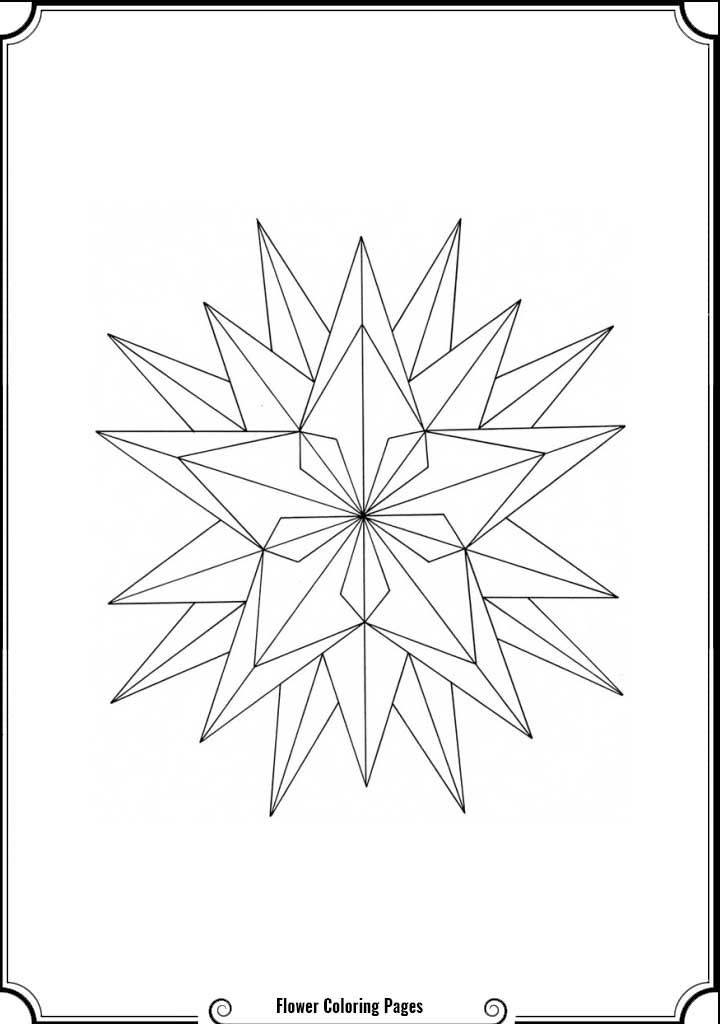 Geometric Flower Coloring Pages - Coloring Home