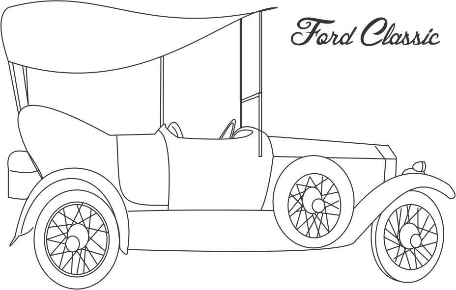 coloring pages cars antiques | Printable Coloring Pages Old School Cars - Coloring Home