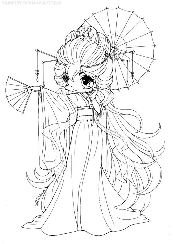 anime fairy coloring pages - photo#6