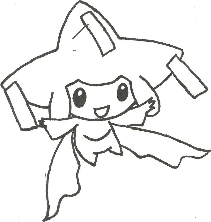 Jirachi Pokemon Coloring Page
