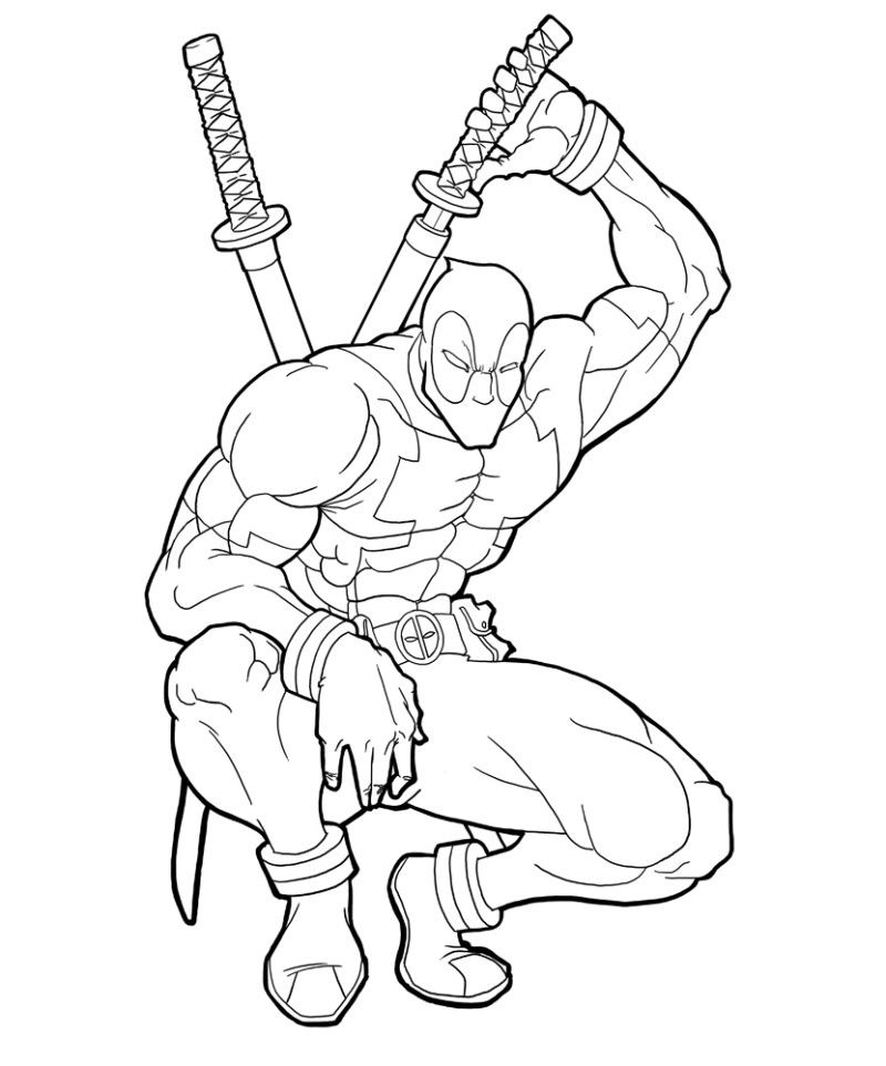 Deathstroke Vs Deadpool Coloring Pages
