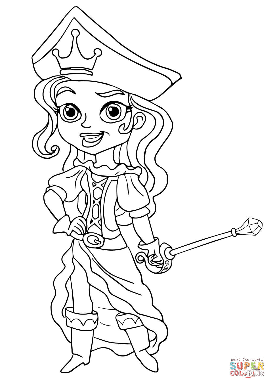 Coloring Pages Girl Pirate Coloring Pages girl pirate coloring page az pages jake and the neverland pirates princess coloring