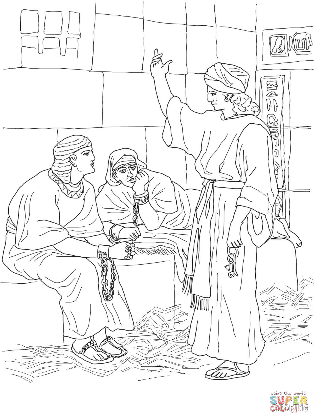bible coloring pages for peter's escape from jail | Angel Coloring ... | 1600x1200