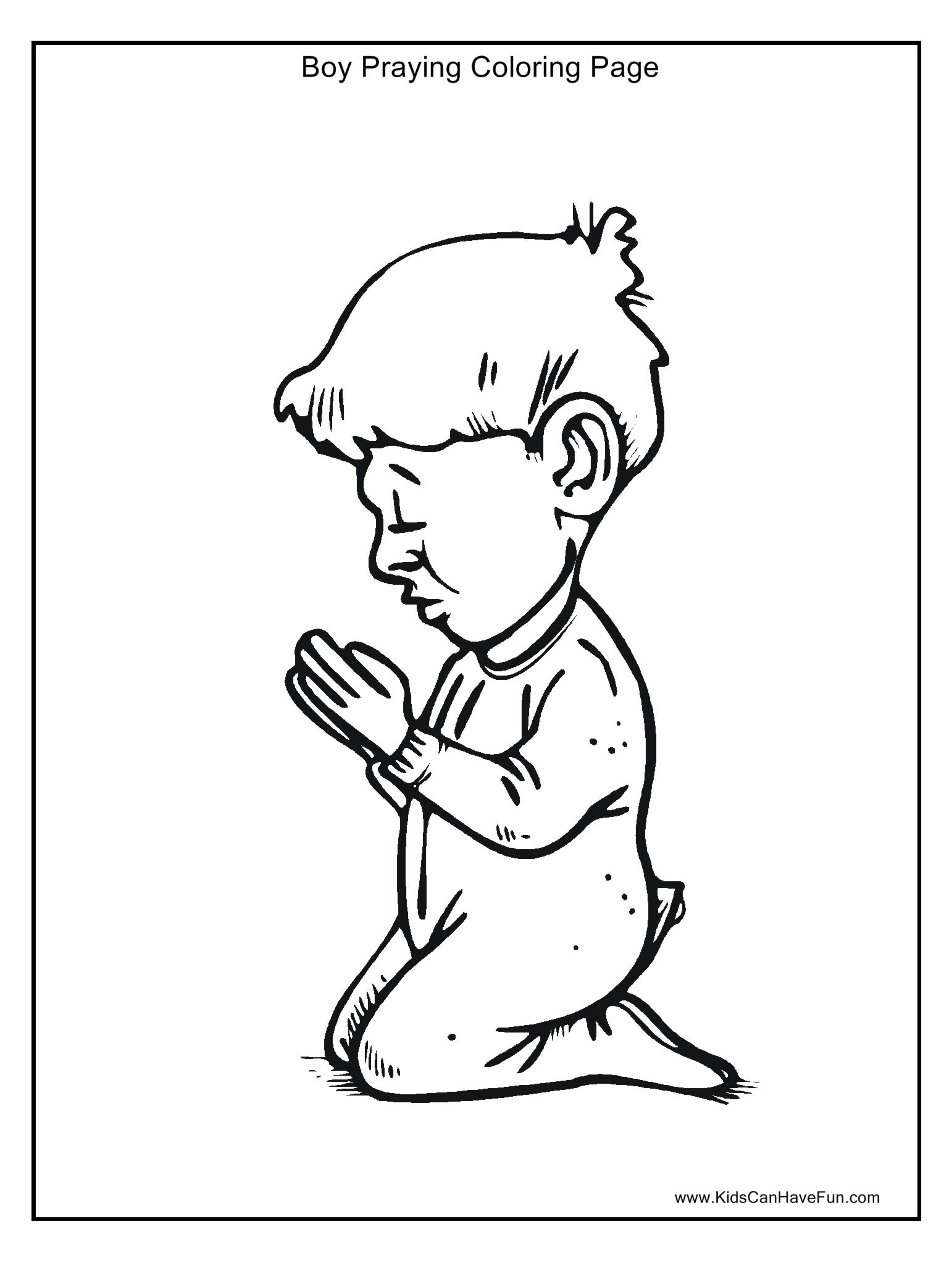 Prayer Coloring Page For Kids Coloring Home Praying Coloring Pages