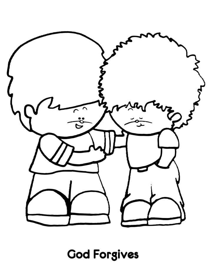 forgiveness bible coloring pages - photo#18