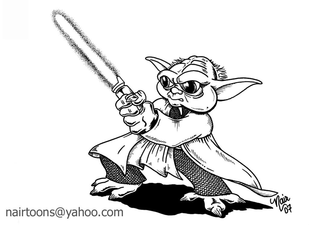Yoda Printable Coloring Pages