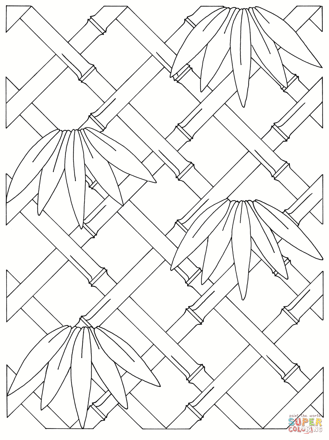 Terms Of Use >> Bamboo Coloring Page - Coloring Home