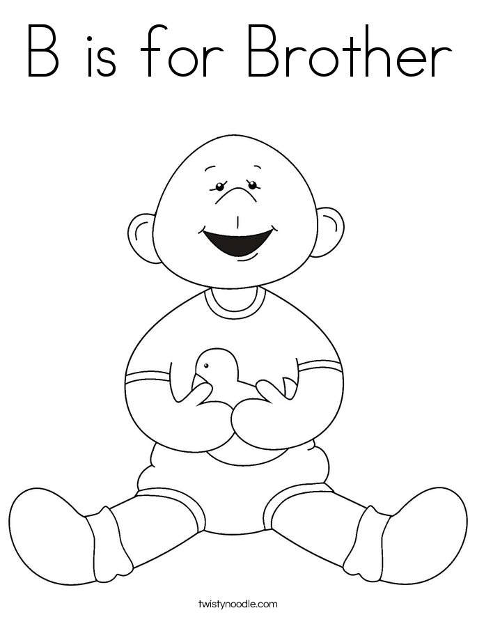 brother coloring pages - photo#4