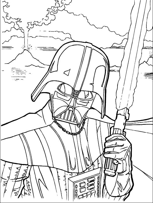 star warsa coloring pages | Star Wars Lightsaber Coloring Pages - Coloring Home