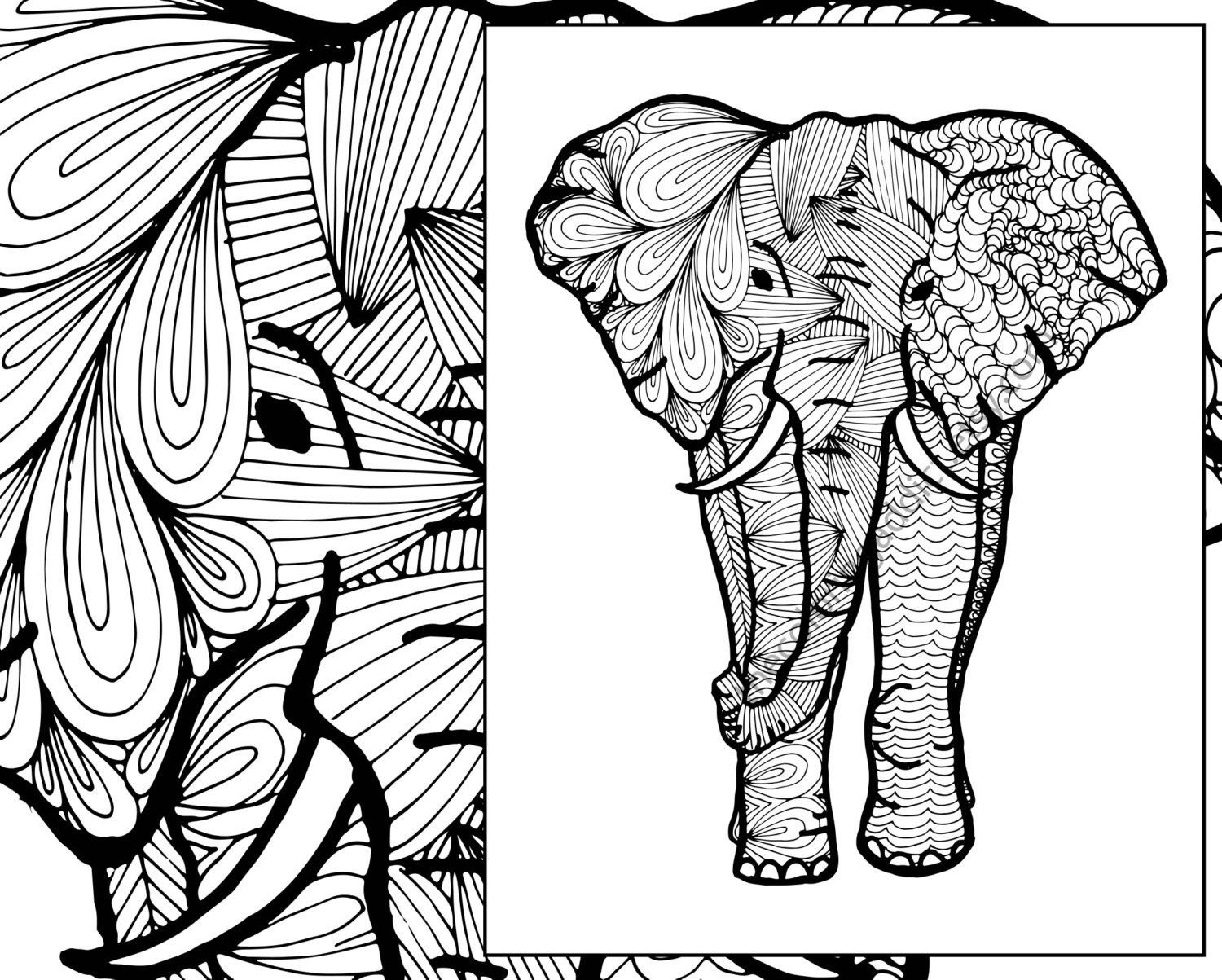 printable tribal elephant coloring pages - photo#12