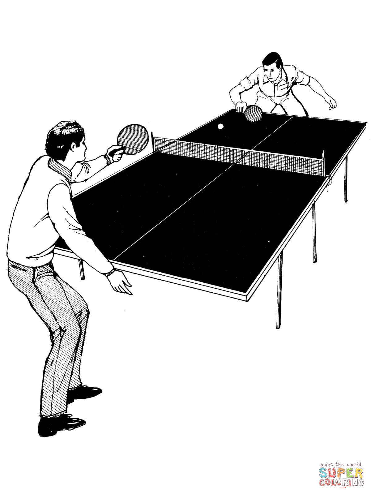 Table tennis coloring pages | Free Coloring Pages