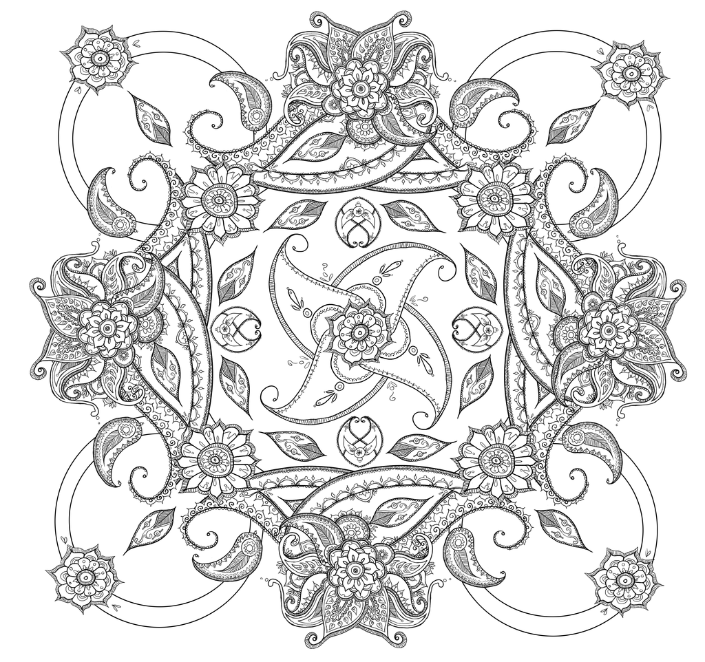 Paisley Coloring Pages Free Printable