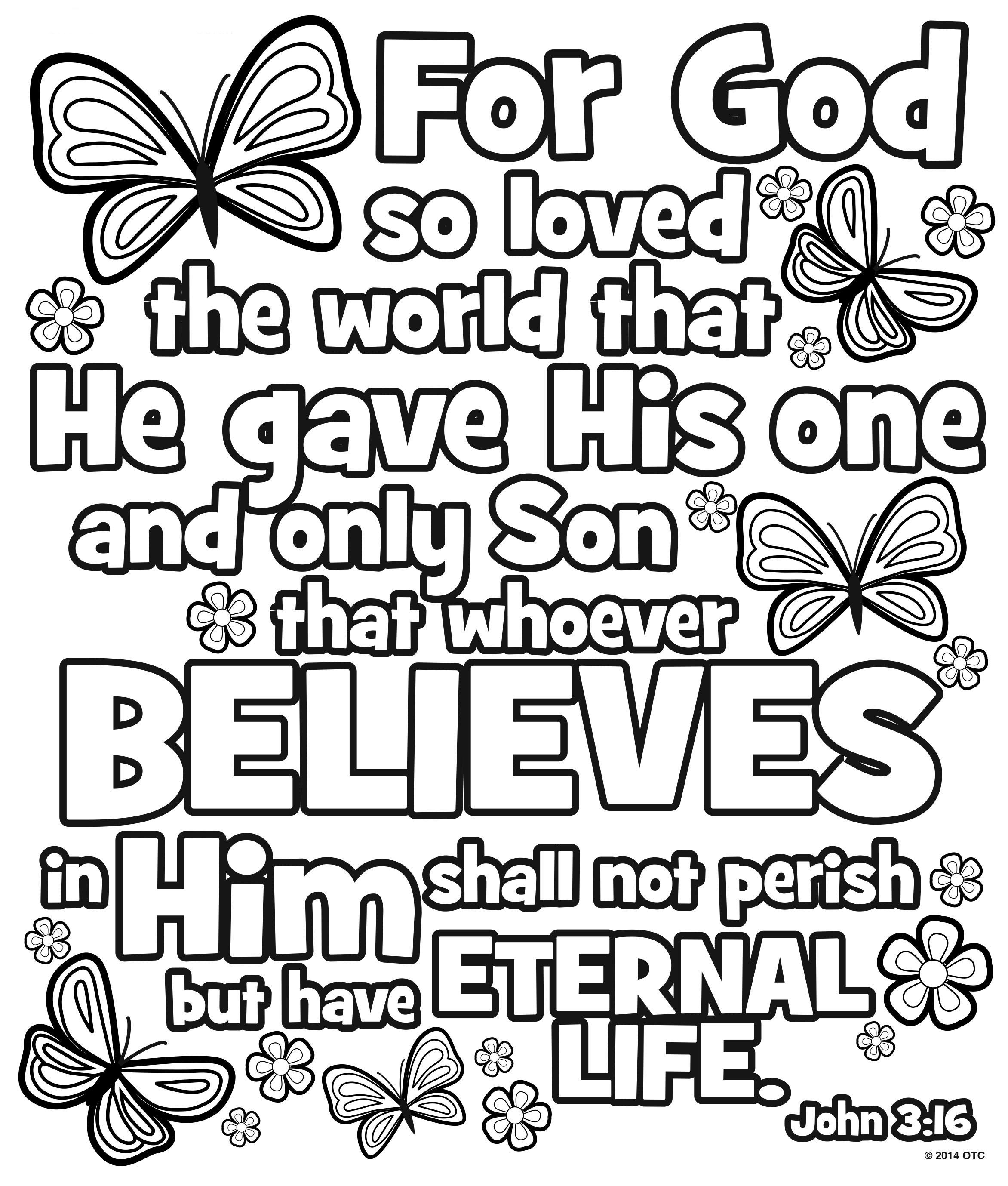 John 3 16 Coloring Pages Coloring Home