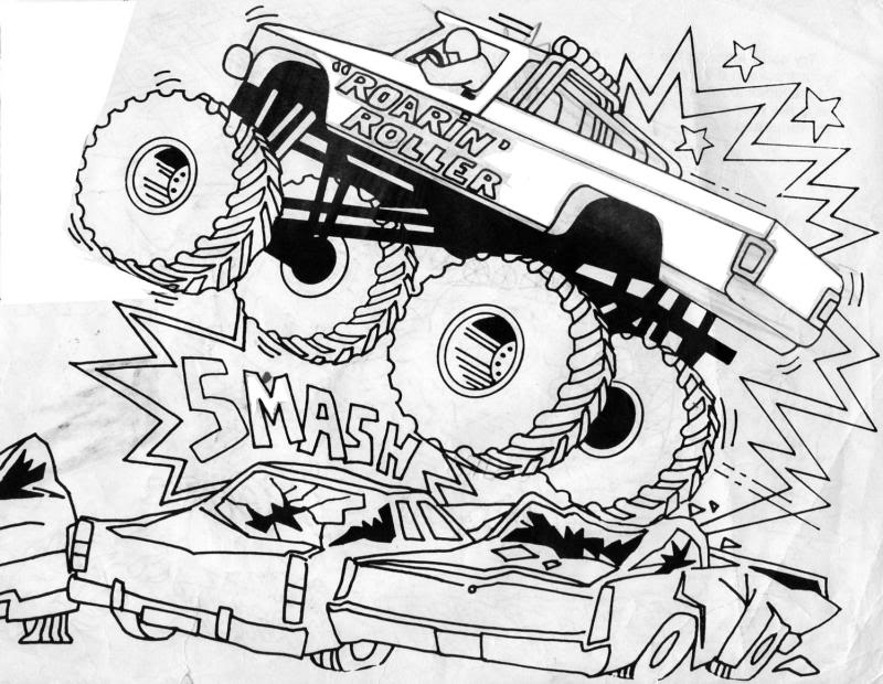 Free Printable Monster Truck Coloring Pages For Kids Coloring Home