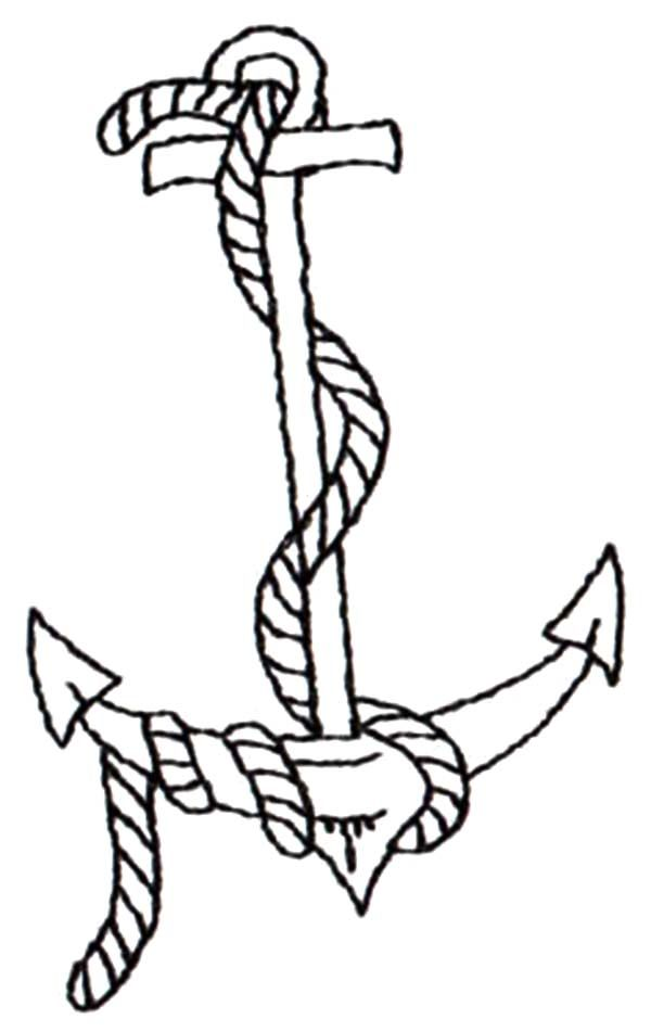 anchor coloring pages to print - photo#29
