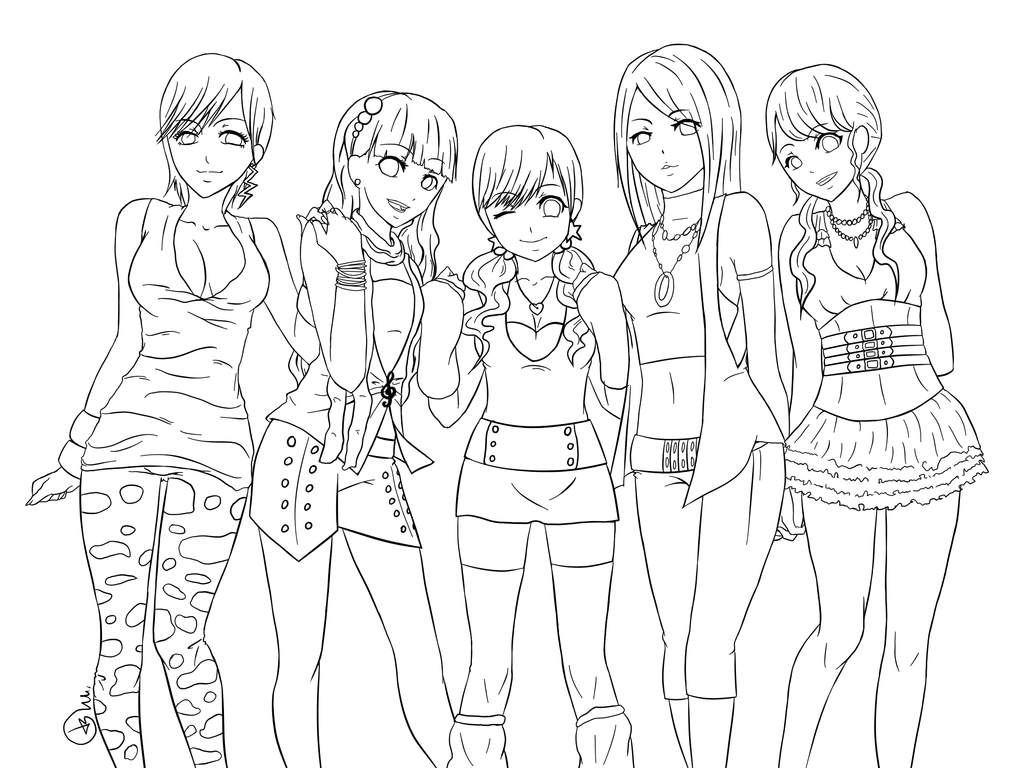 girl difficult coloring pages - photo#6