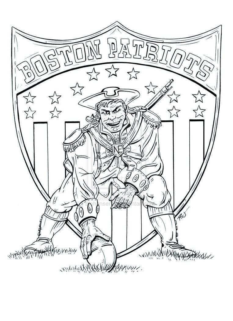 New England Patriots Coloring Page  Color Me Good