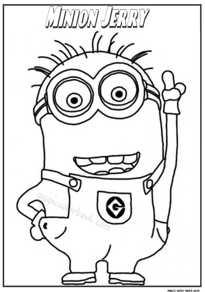 Minion Jerry coloring pages for kids