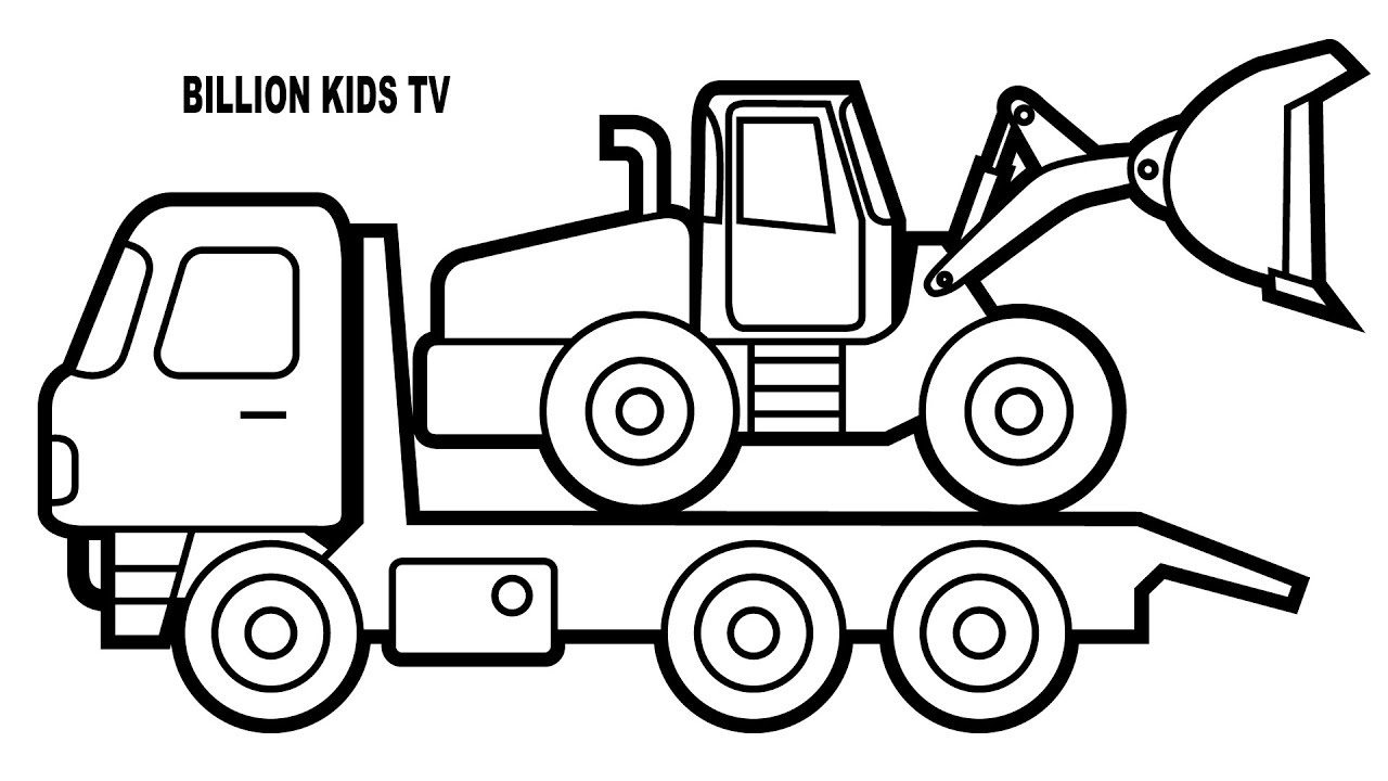 Crane Truck Drawing at GetDrawings | Free download