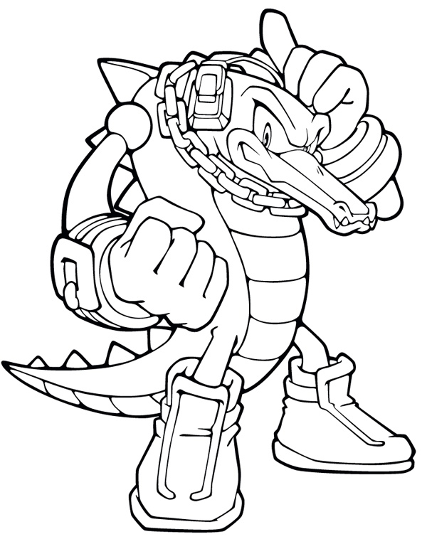 Vector The Crocodile Coloring Pages (Page 1) - Line.17QQ.com