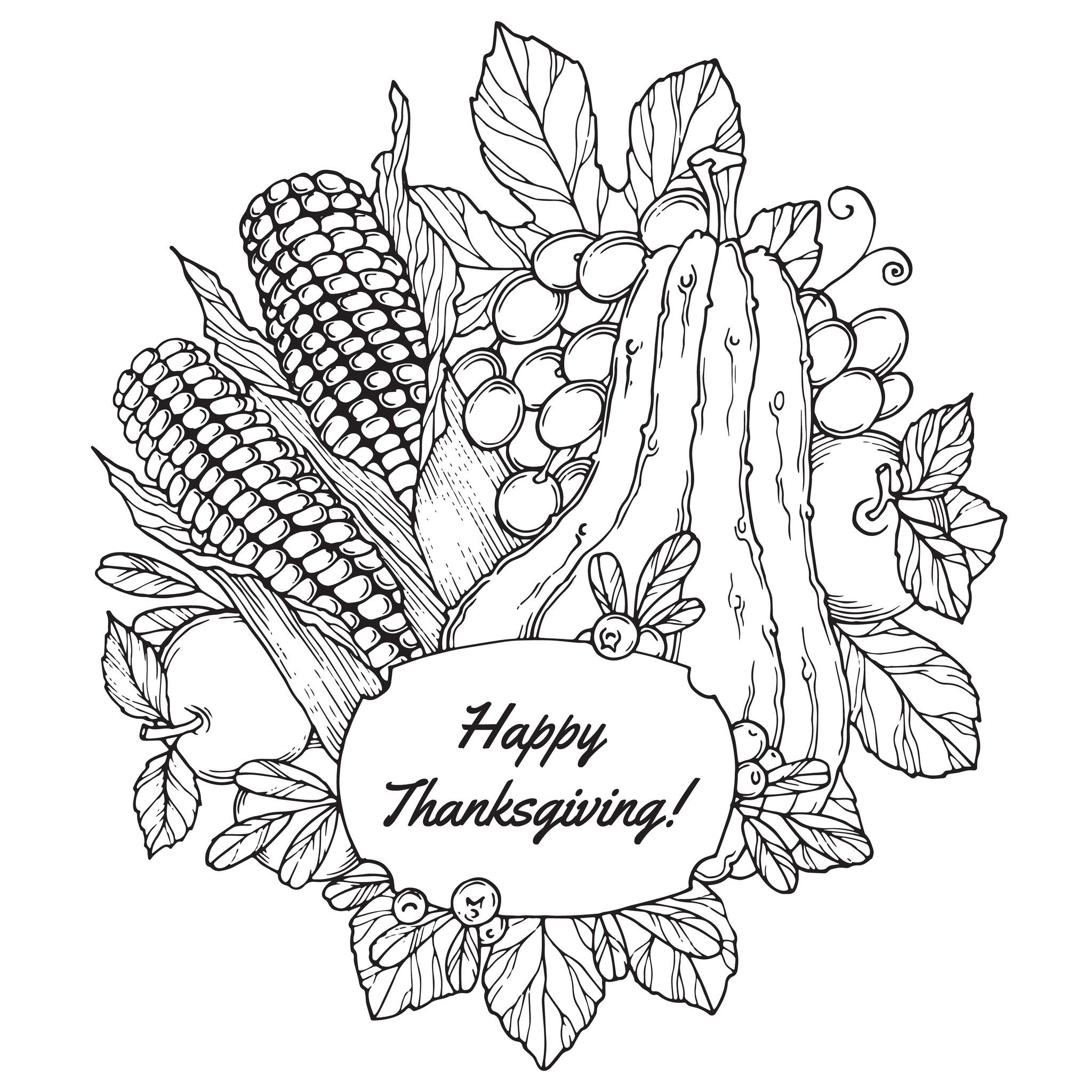 Coloring Pages For Adults: Thanksgiving Coloring Pages For Adults