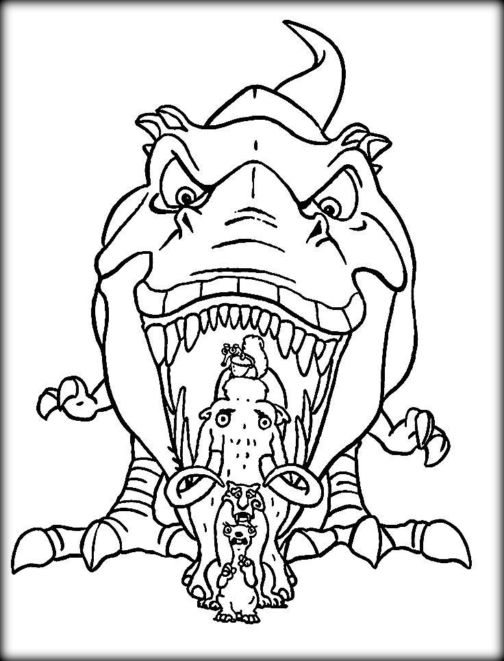 ice age animals coloring pages - photo#1