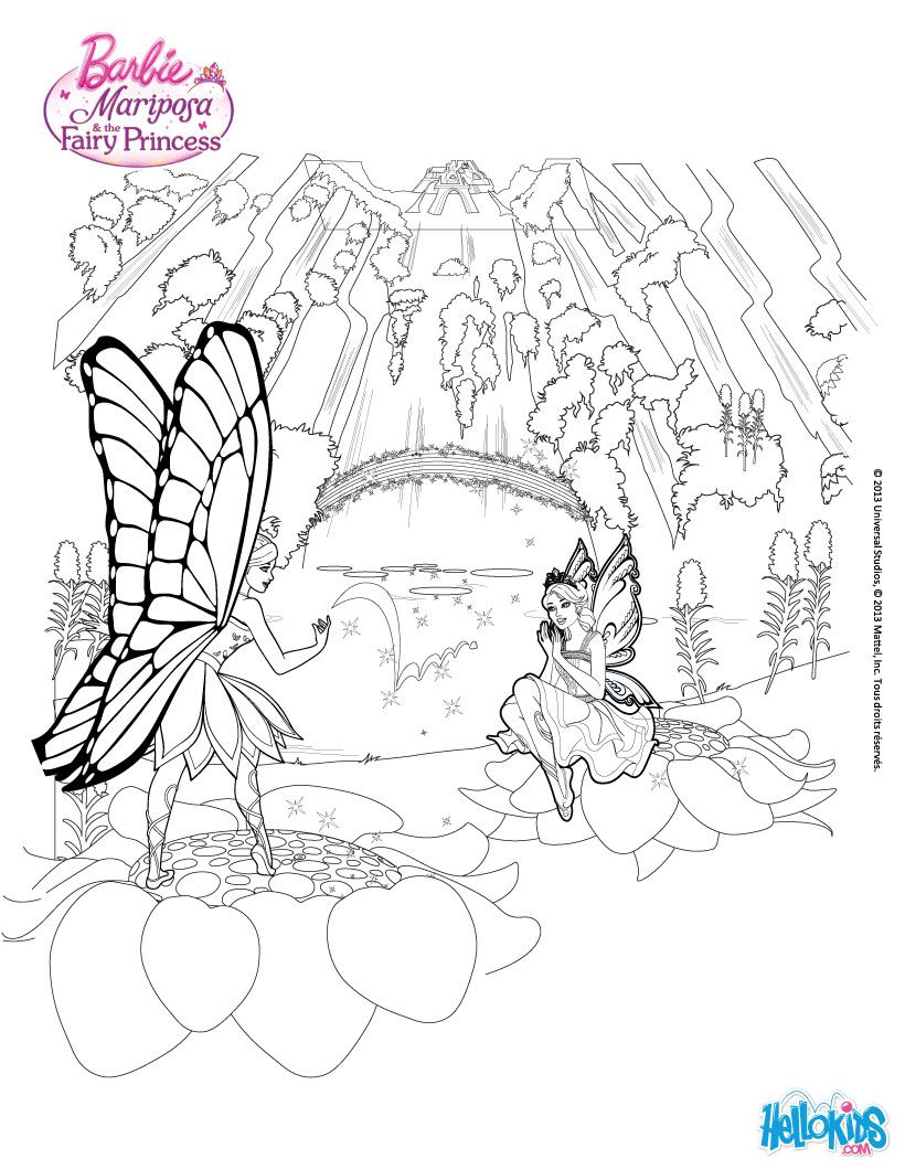 BARBIE MARIPOSA Coloring Pages 20 Online Mattel Dolls Printables