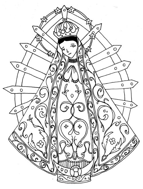 La Virgen De Guadalupe Coloring Sketch Coloring Page - Coloring Home