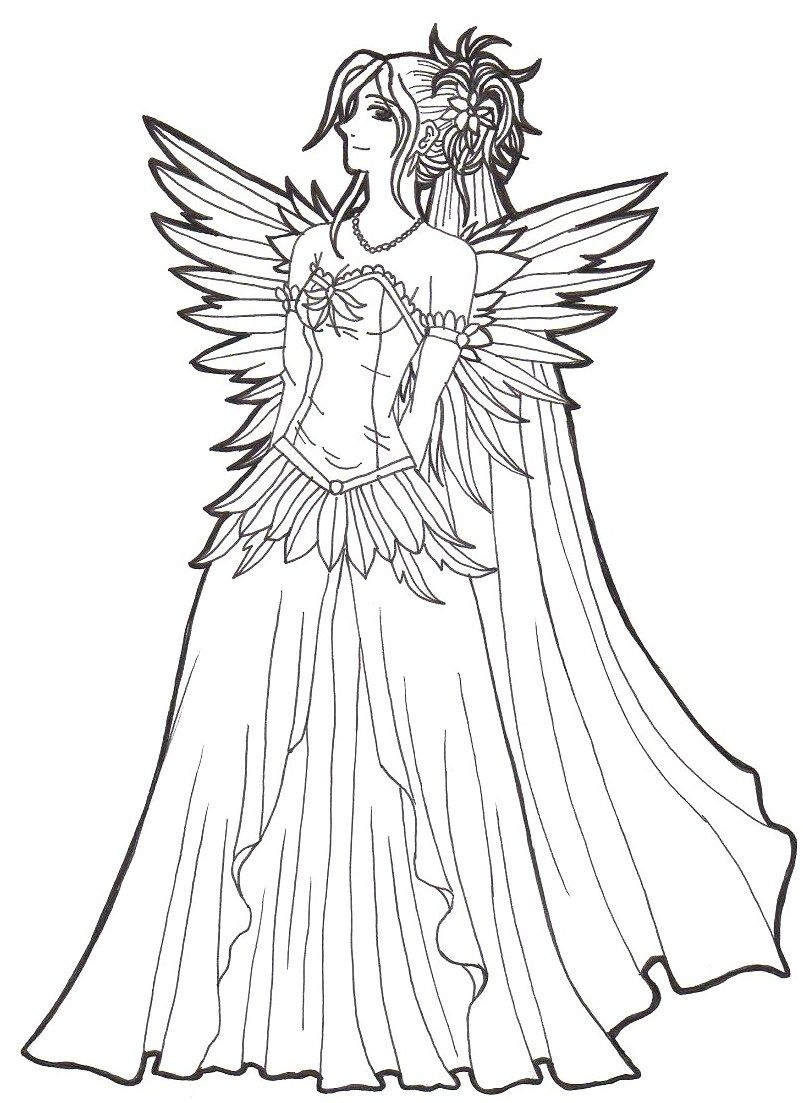 wedding dress coloring pages - photo#29