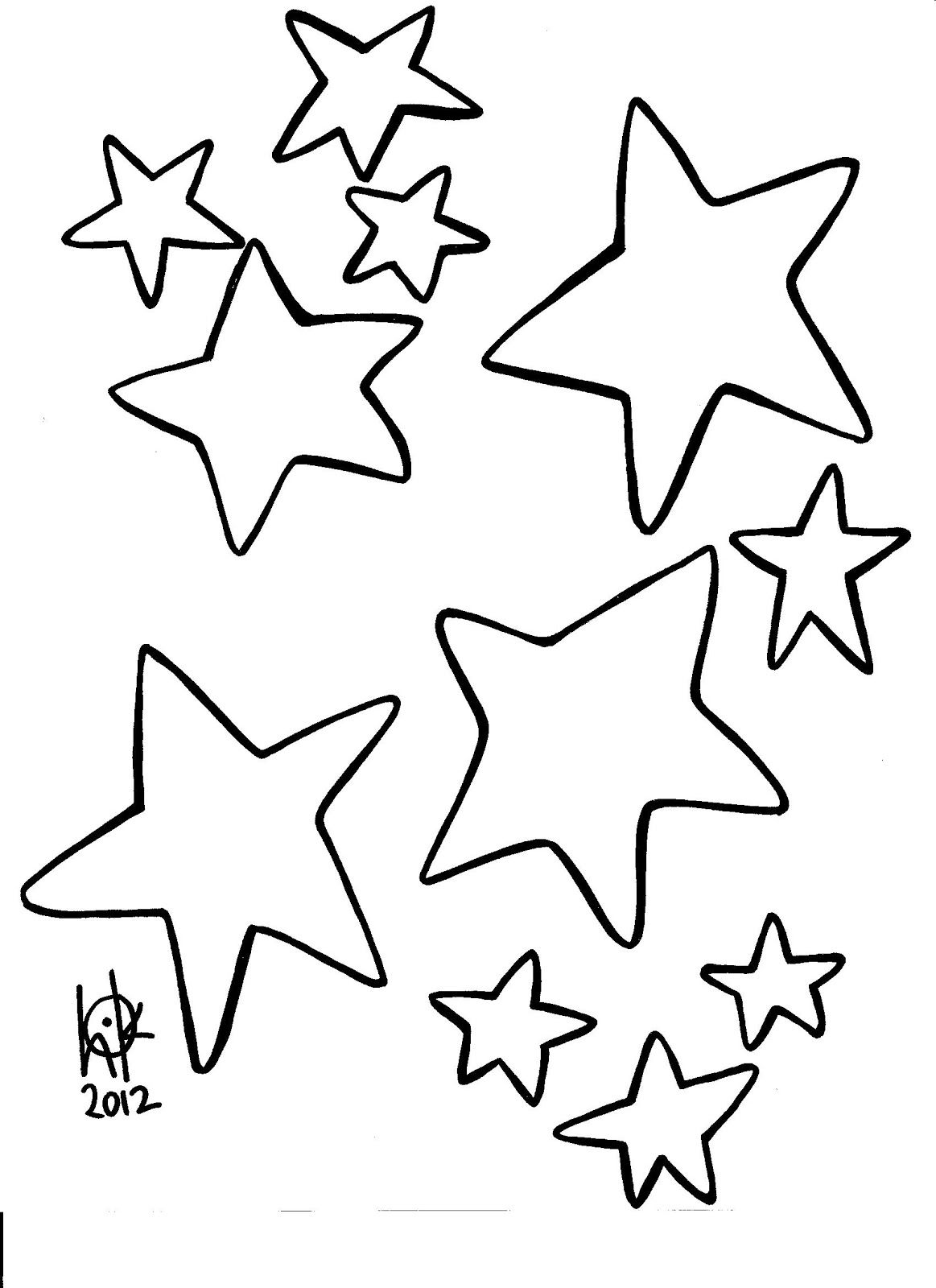 Star Outline Printable Coloring Home