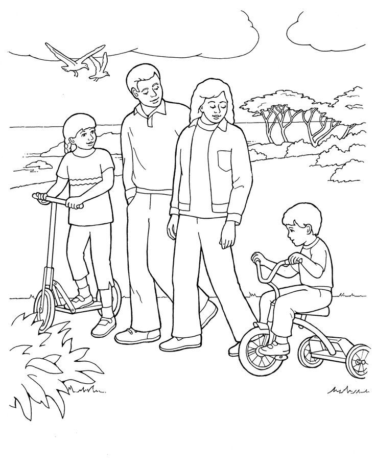 coloring pages for family - photo#19
