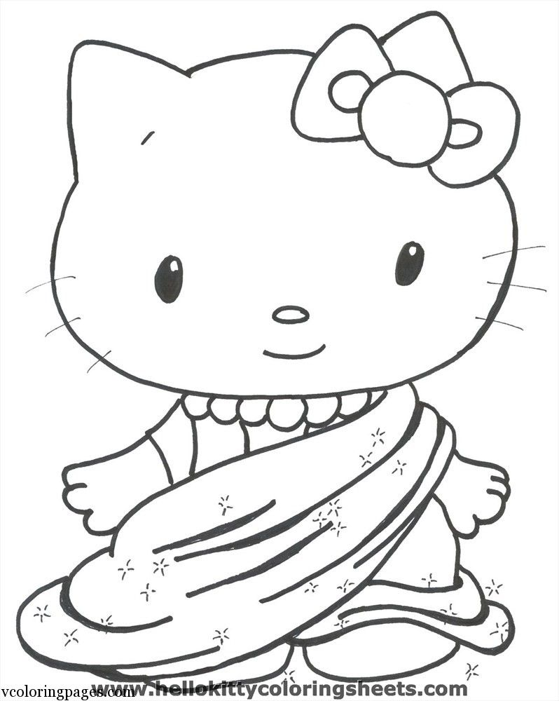 Hello Kitty With Balloons Coloring Pages : Hello kitty balloons coloring pages home