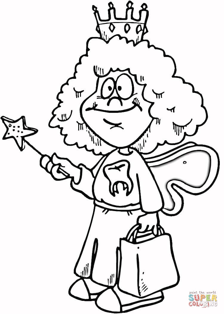 Tooth fairy coloring pictures