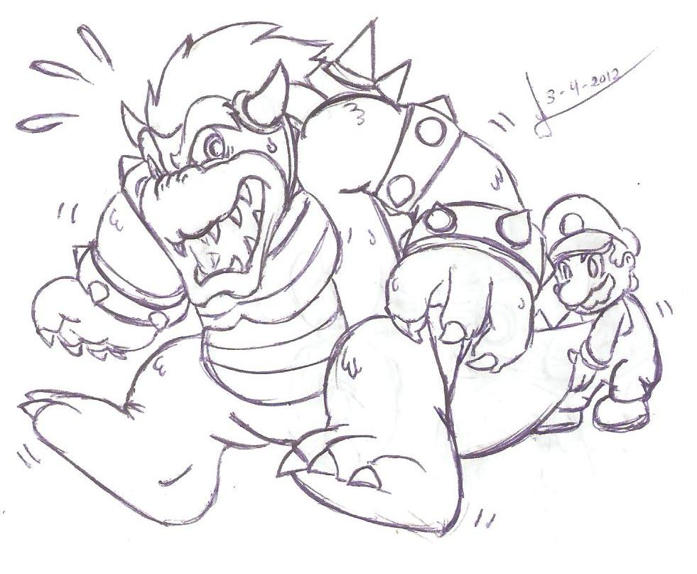 Bowser Coloring Pages - Colorine.net | #3390