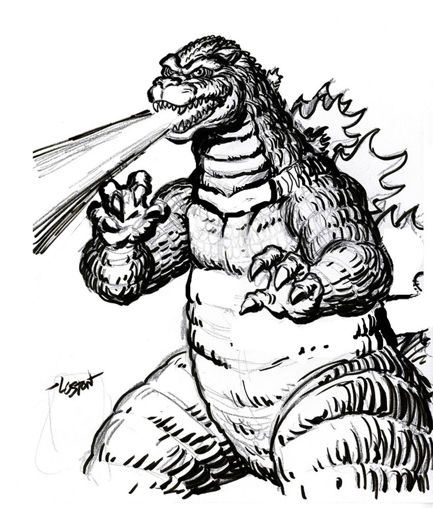 godzilla coloring pages - Free Large Images