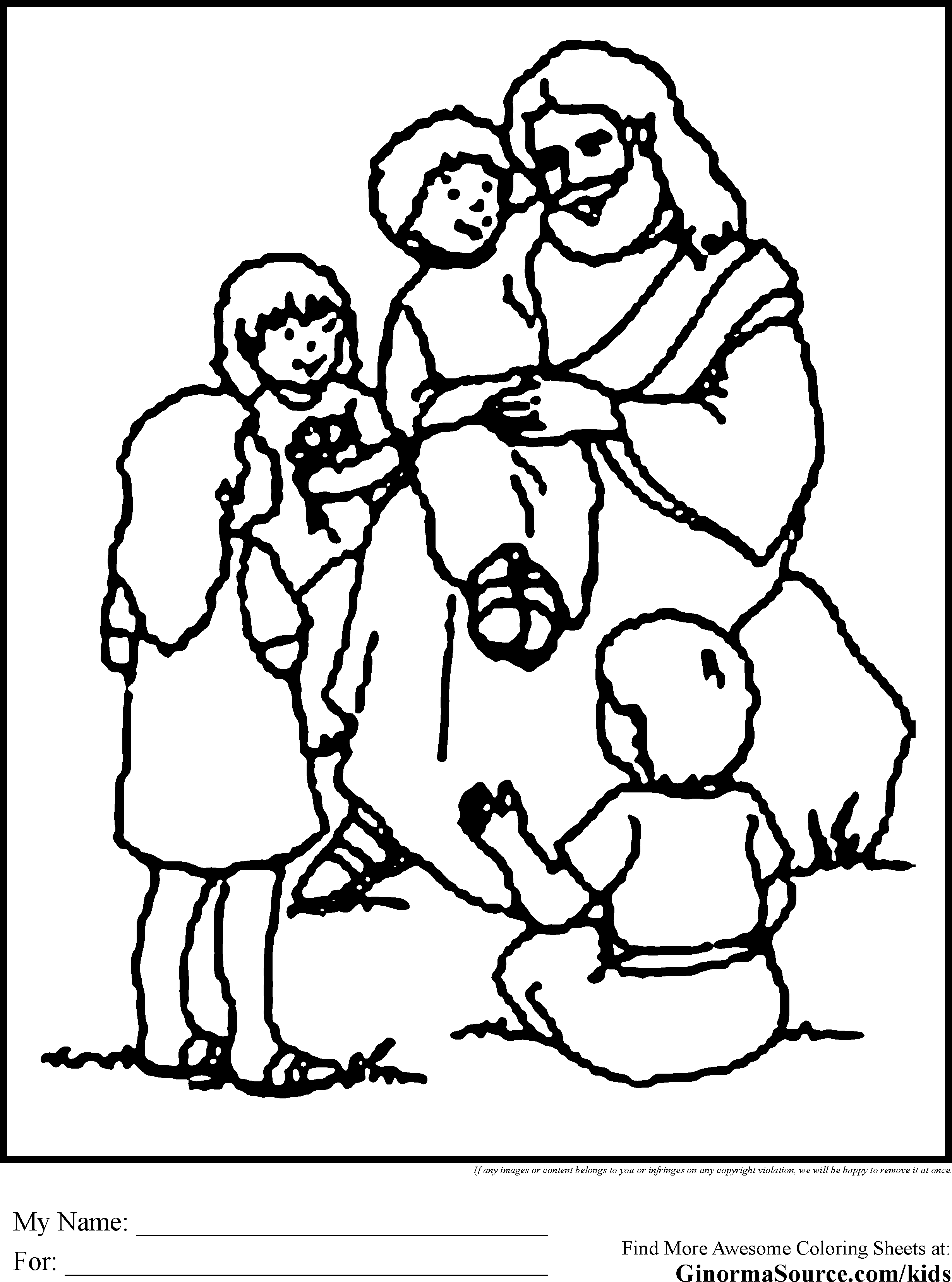 Jesus feeds the five thousand coloring page coloring home for Coloring pages of jesus