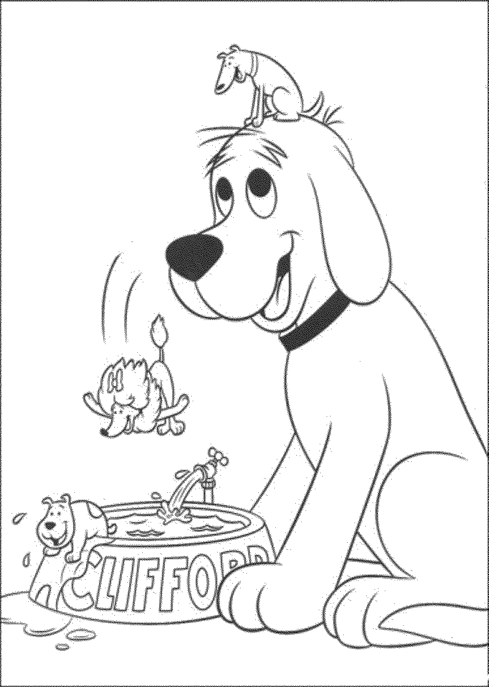 Coloring Pages Clifford The Big Red Dog Coloring Pages Printable clifford coloring pages to print az biscuit the dog printable kids colouring pages