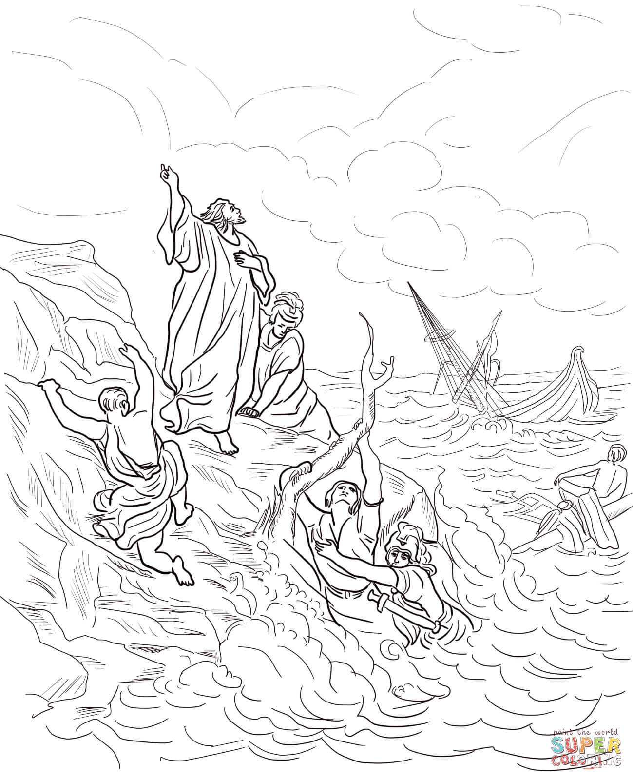 Paul And Timothy Coloring Pages