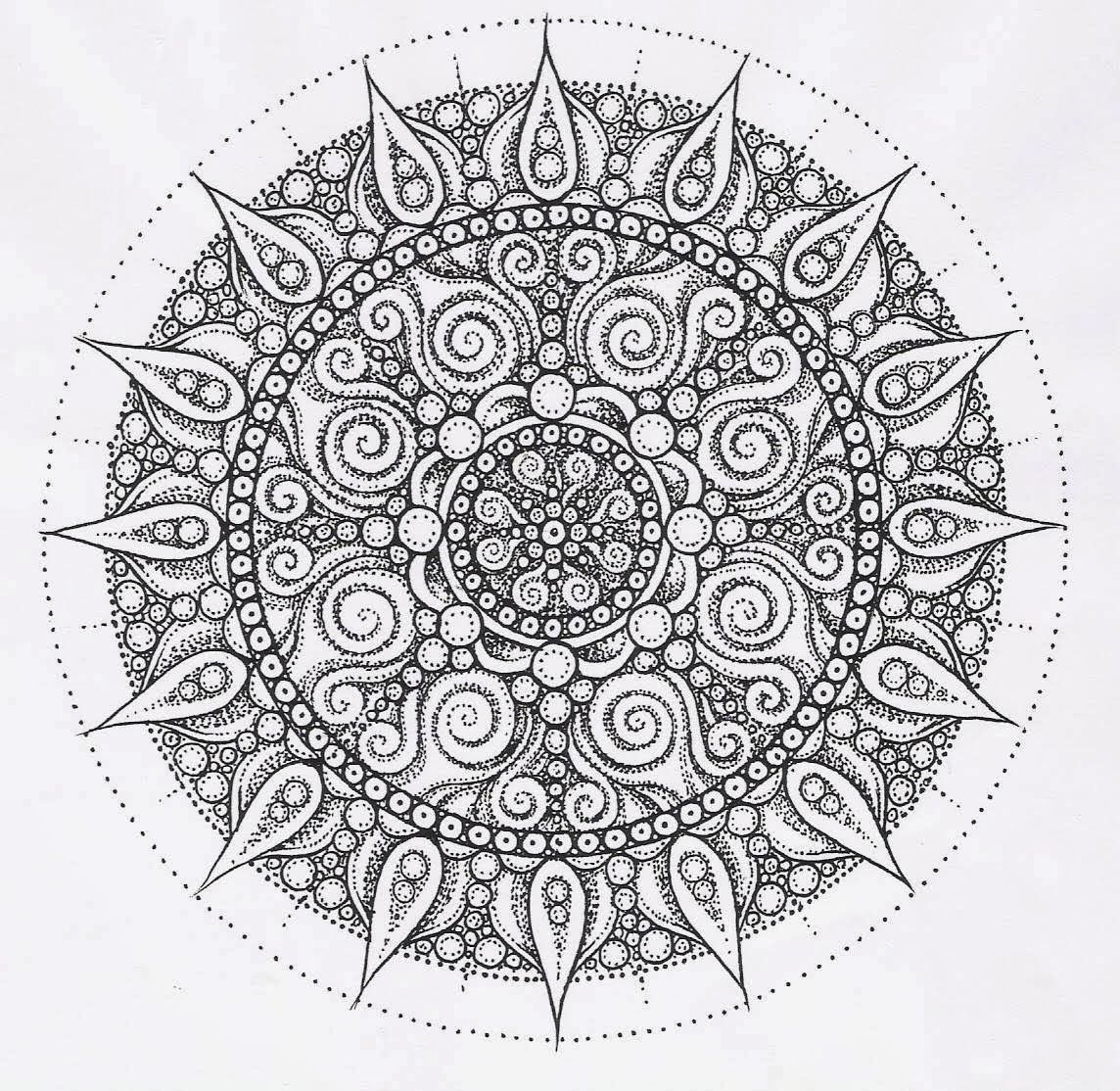 intricate mandala coloring pages - photo#6