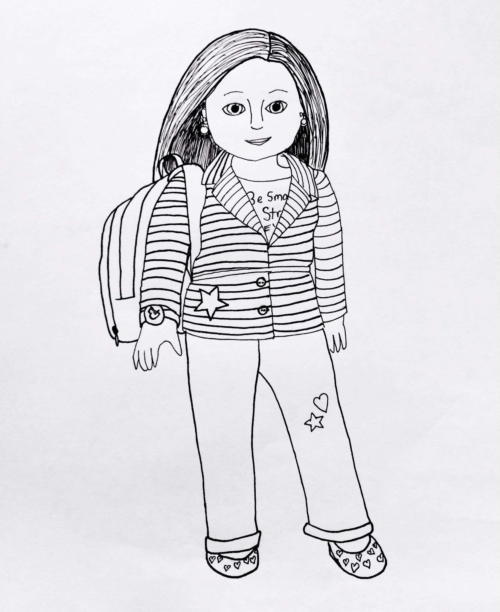 Amazing of Incridible American Girl Saige Coloring Page A #2501